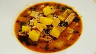 Рецепт блюда: красный карри со свиными ребрышками, картошкой и тофу