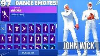 OLD MAN JOHN WICK SKIN! with Dance EMOTES! Fortnite Battle Royale