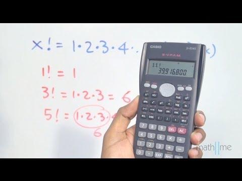 Número factorial en la calculadora científica - YouTube