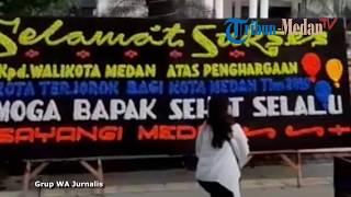Download Video Papan Bunga Misterius untuk Wali Kota Medan Dipajang di Balai Kota MP3 3GP MP4