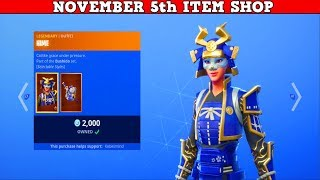 Fortnite Item Shop (November 5th) | These Legendary Skins Are Amazing!