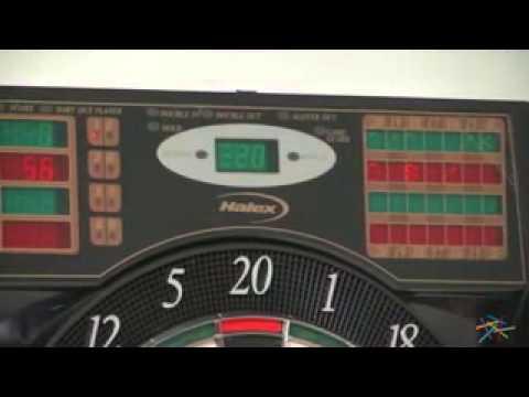 Bullshooter by Arachnid E Bristle 1000 Electronic Dart Board - Product Review Video