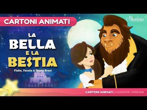 La Bella e la Bestia storie per bambini   cartoni animati Italiano   Storie della buonanotte