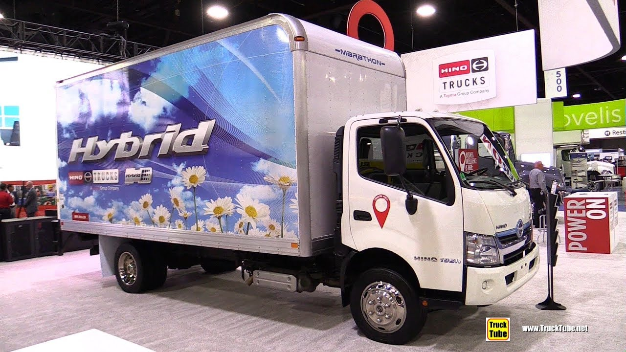 2018 Hino 195h Sel Electric Hybrid Truck Walkaround 2017 Nacv Show Atlanta