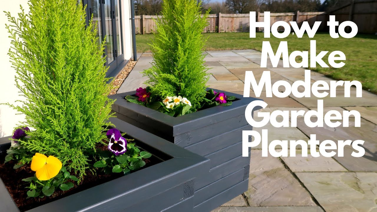 Download How to Make Modern Garden Planters