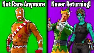 THE LAST REMAINING *RARE* SKINS... Will They Return? (Fortnite Battle Royale)