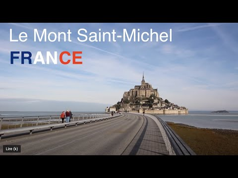 Inside the walls  of Mont St Michel and interior of his abbey