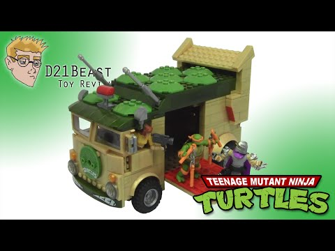 MEGA BLOKS TEENAGE MUTANT NINJA TURTLES (Classics Series) PARTY WAGON REVIEW