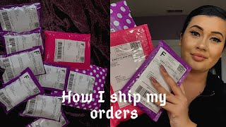 How I ship my orders 💕 *using shopify*