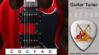 Drop C tuner - Tune you guitar to drop C  -  C G C F A D