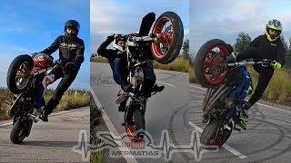 CBR600F4i | Supermoto | Grom | Stunt Practice at closed road