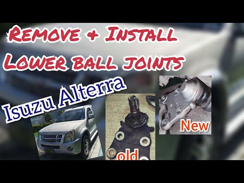 How to Replace Lower Ball Joint- Isuzu Alterra