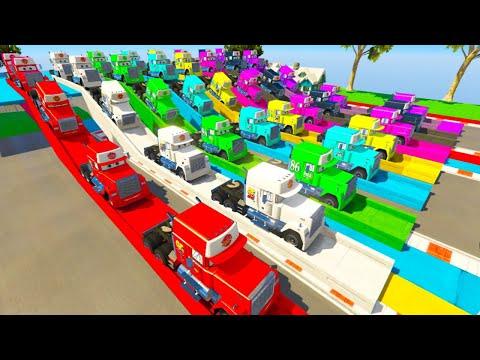 Cars 3 Mack Truck Hauler and Friends Full Colors Disney Cars Games |