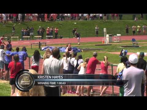 NEC TF Championships: Women's 400 Hurdles, Kristen Hayes, Bryant