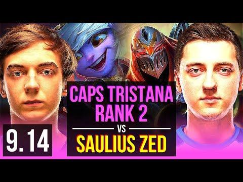 Caps TRISTANA Vs Saulius ZED (MID) | Rank 2, Rank 1 Tristana | EUW Challenger | V9.14