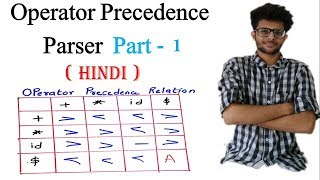 Operator Precedence Parser with Solved Example in Hindi   Part 1  Compiler Design Lectures for Gate