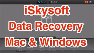 iSkysoft Data Recovery for Mac and Windows Review