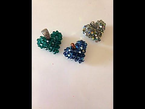 Make a Swarovski Crystal Heart, step-by-step