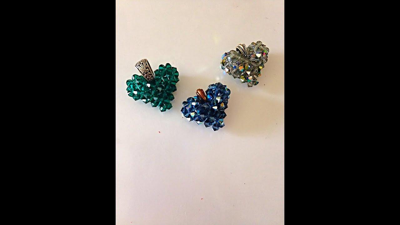 Make a Swarovski Crystal Heart, step-by-step - YouTube
