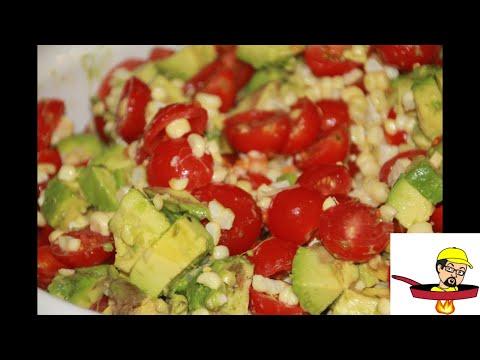 Grilled Corn, Tomato & Avocado Summer Salad