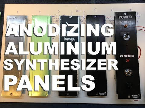 Anodising Aluminium Synthesizer Panels at Home