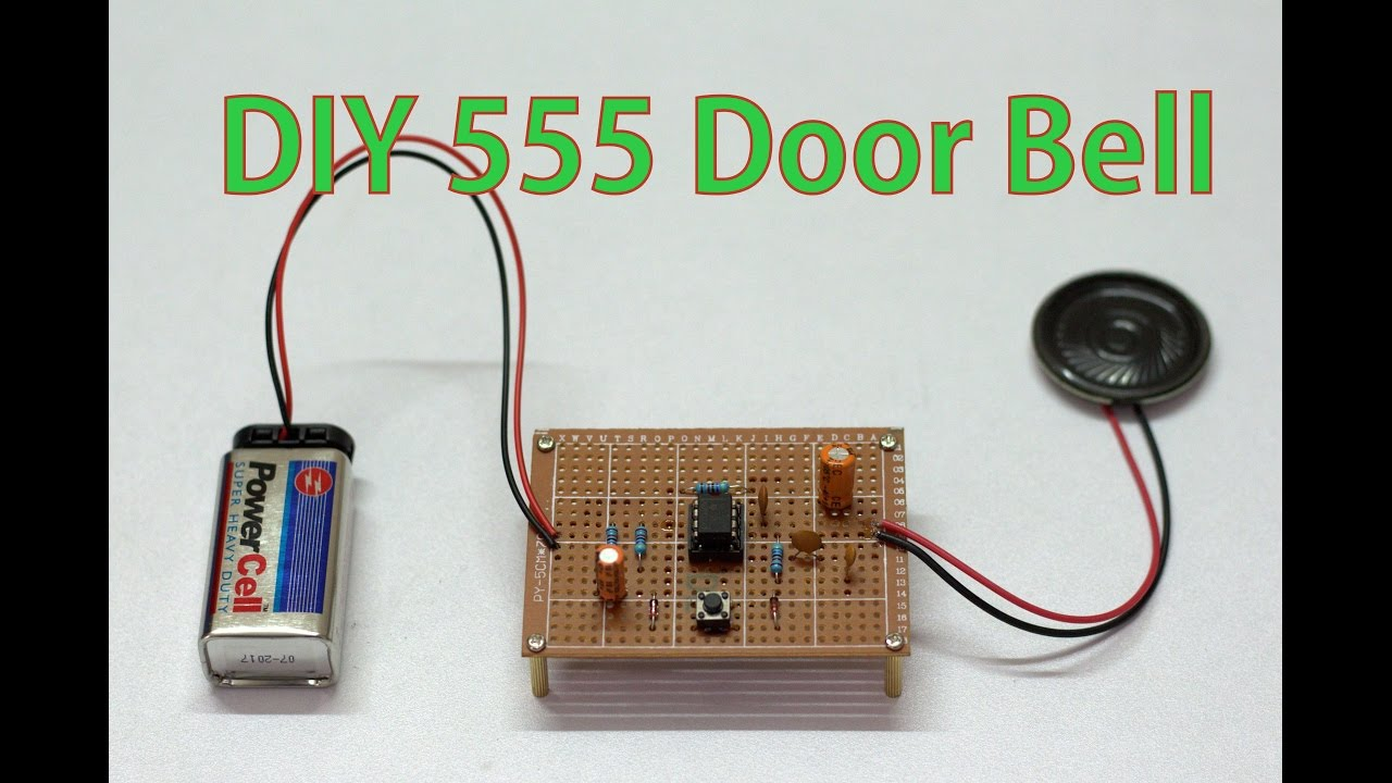 Diy Door Bell By Using 555 Timer Youtube Doorbell Cascade Electronic Schematics 555projects Diydoorbell