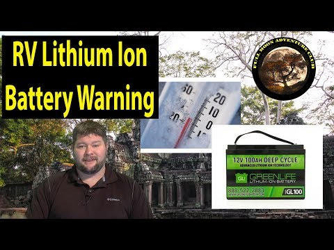 RV Lithium Battery Warning - Cold Weather Storage
