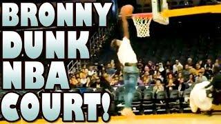 bronny dunking
