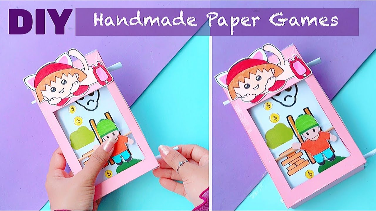 How to make paper game's / Paper Toy's / Handmade paper crafts / Kids Toy's