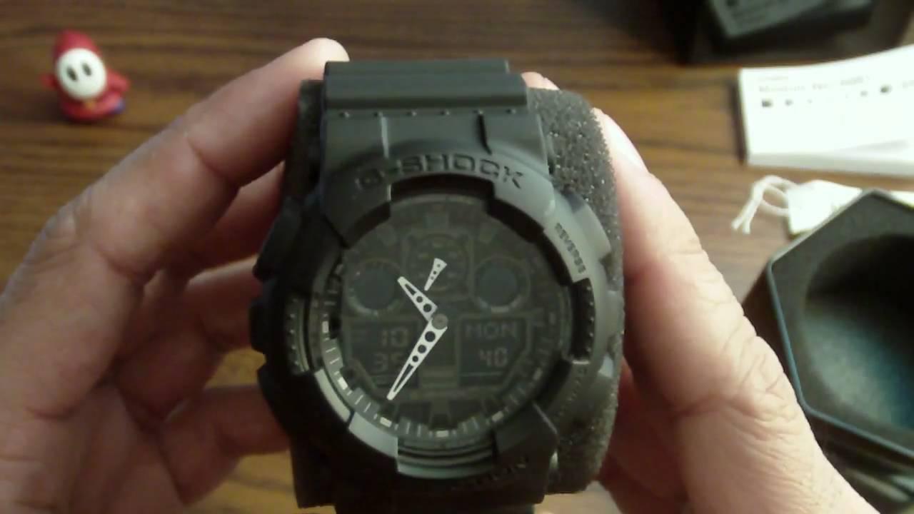 20ab5ba5327b Casio G-Shock GA100-1A1 Initial thoughts - YouTube
