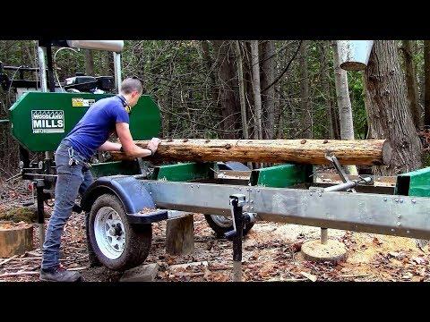 Woodland Mills Sawmill Trailers are here!- HM126 Trekker XL
