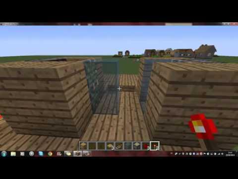Tuto comment faire des portes coulissantes dans minecraft youtube - Comment faire des portes coulissantes ...