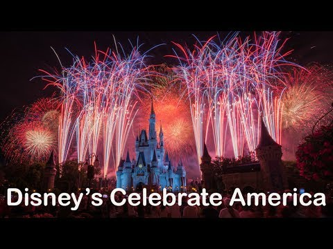 Disney's Celebrate America Fourth of July Fireworks at The Magic Kingdom (4K)