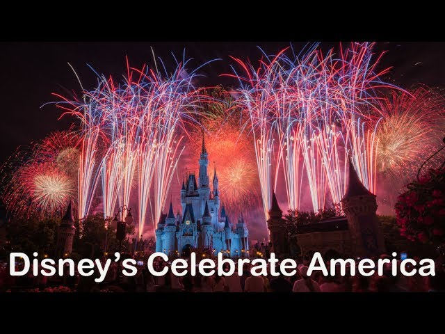 Disneys Celebrate America Fourth of July Fireworks at The Magic Kingdom (4K)