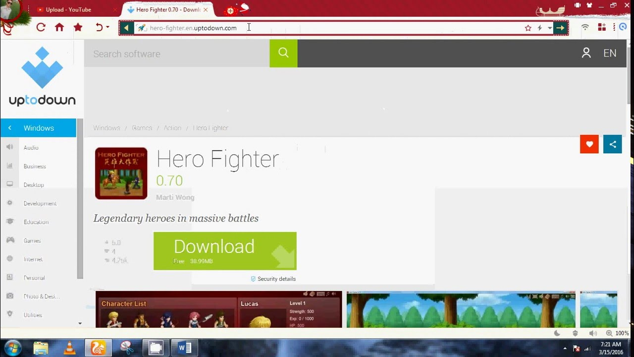 Downloading hero fighter v 0 70 in windows 7 - YouTube