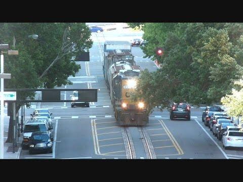 CSX Street Runner Train Echos Through Downtown Tampa Florida