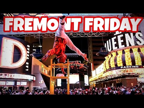 Fremont Street Friday Night   Labor Day 2020
