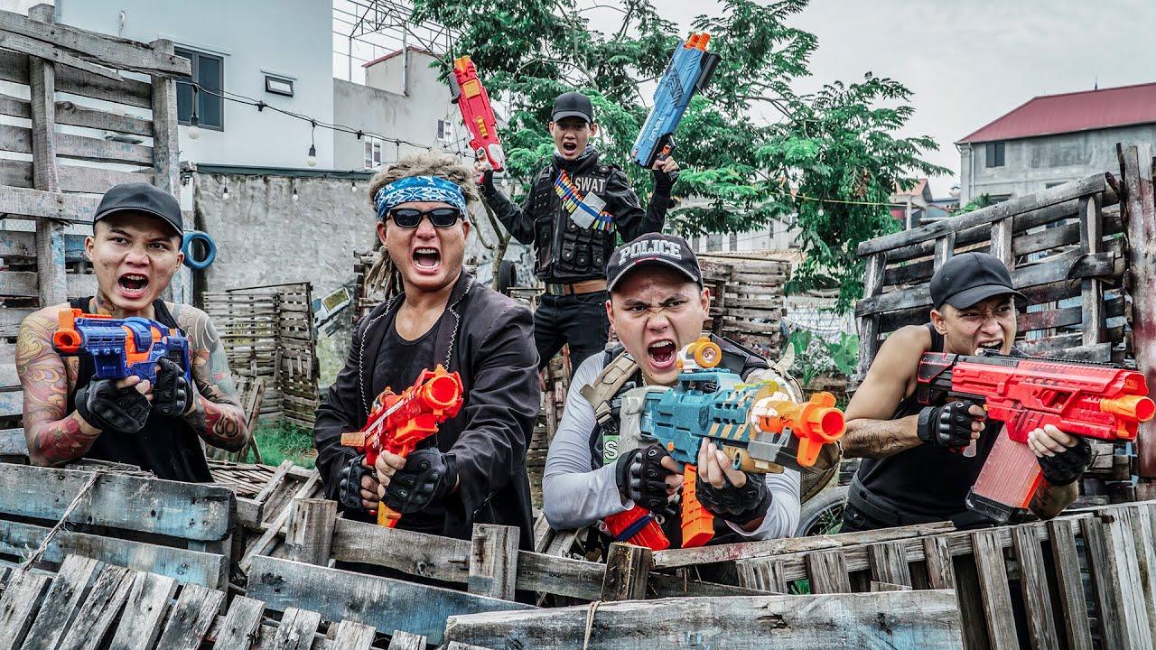 LTT Game Nerf War : Police Patrol Warriors SEAL X Nerf Guns Fight Criminal Group Mr Zero Crazy