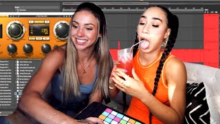 DRUNK GIRLS TRY PRODUCING A SONG. with Charly Jordan | MyLifeAsEva