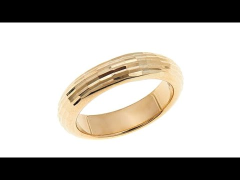 Michael Anthony Jewelry 10K DiamondCut 4.5mm Band Ring