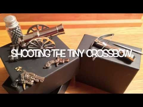 Shooting The Powerfull Miniature Crossbow, The Nicest Design Around 4K video