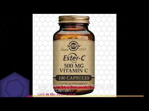 Solgar, Ester-C Plus, Vitamin C, 500 Mg, 100 Vegetable Capsules