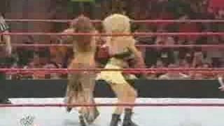 Mickie James and Kelly Kelly VS Layla and Jillian 7/7/08