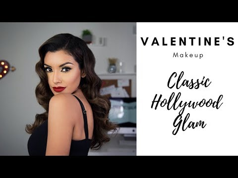 VDAY Red Lips + Black Liner Tutorial Classic Hollywood Glam For Valentine's Day | Fenty Beauty 2018