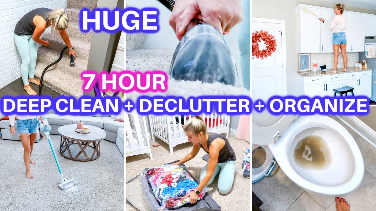 EXTREME 7 HOUR DEEP CLEAN WITH ME 2021+ DECLUTTER + ORGANIZE | DAYS OF SPEED CLEANING MOTIVATION