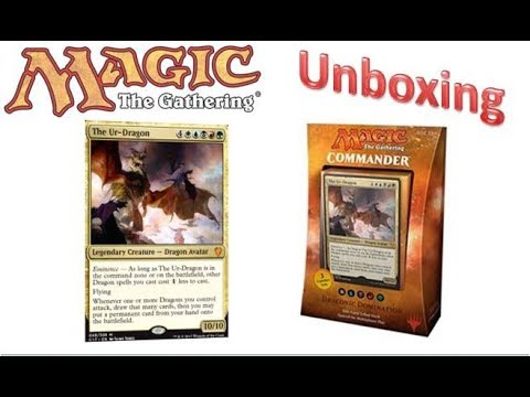 MTG - Commander 2017 - Draconic Domination - Unboxing + Release Review