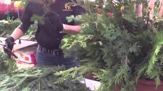 How To Create An Outdoor Christmas Planter From Van Belle Flowers & Christmas Store