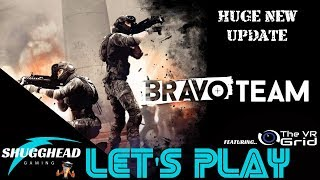 Bravo Team PSVR Lets Play: Huge Upgrade Walkthrough W/ The VR Grid | PS4 Pro Game Play Footage
