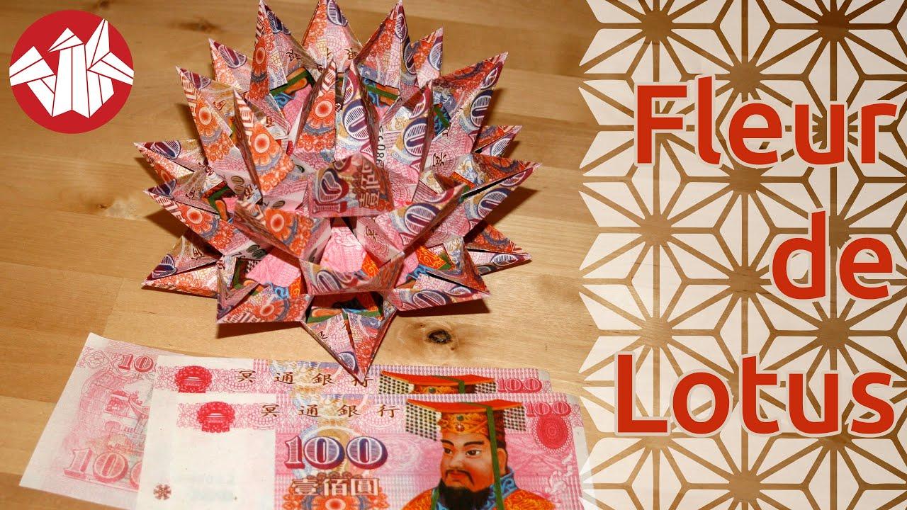 tuto origami billet de banque