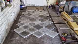 плитка на пол в гараже. tiles on the floor in the garage(, 2015-05-17T08:10:21.000Z)
